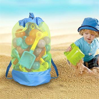 Almacenamiento Plegable Arena Mochila Bolso Durable Y Bolsas Playa Bolsa Juguetes Piscina Malla Nadar Los Niños De PwkO8n0