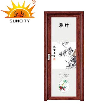 Sc Aad011 Decorative Bamboo Design Chinese Style Low E Glass Prehung