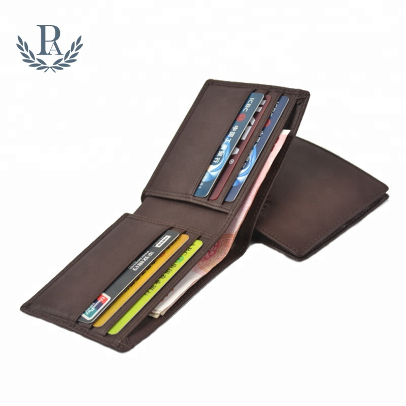 Oem soft leather bifold slim rfid blocking wallet for <strong>men</strong>
