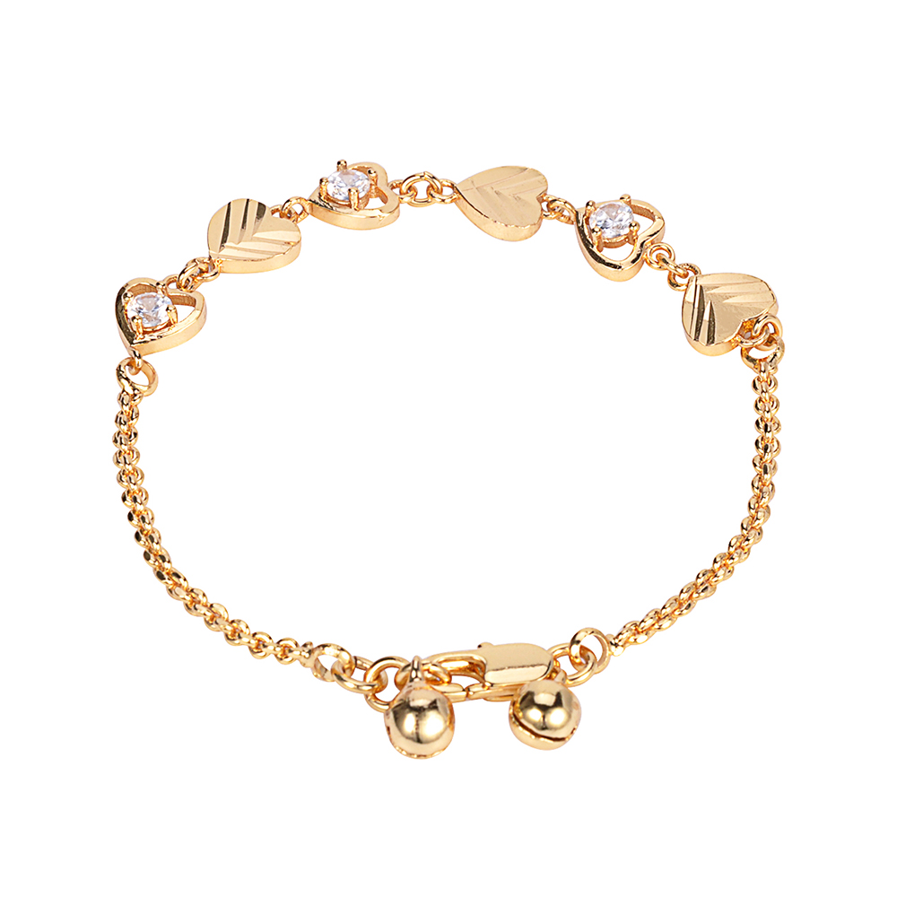 Gravity Latest wedding natural stone cute colorful crystal 18k gold plated bracelets
