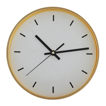 10 Inches Round Home Decorative Quartz Wood frame Wall Clock