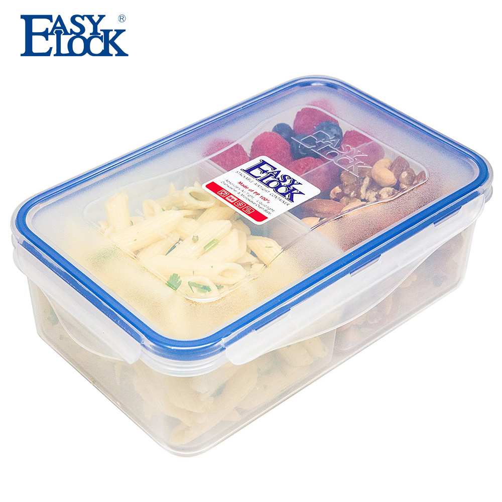 3 Compartments Plastic Food Storage Container Microwave Safe