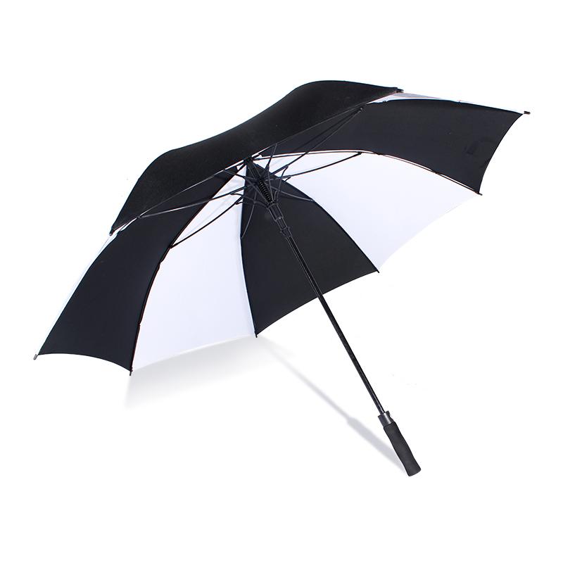 Fantastic Cheap promotional fashion black and white union jack full fiberglass frame parasol golf umbrellas