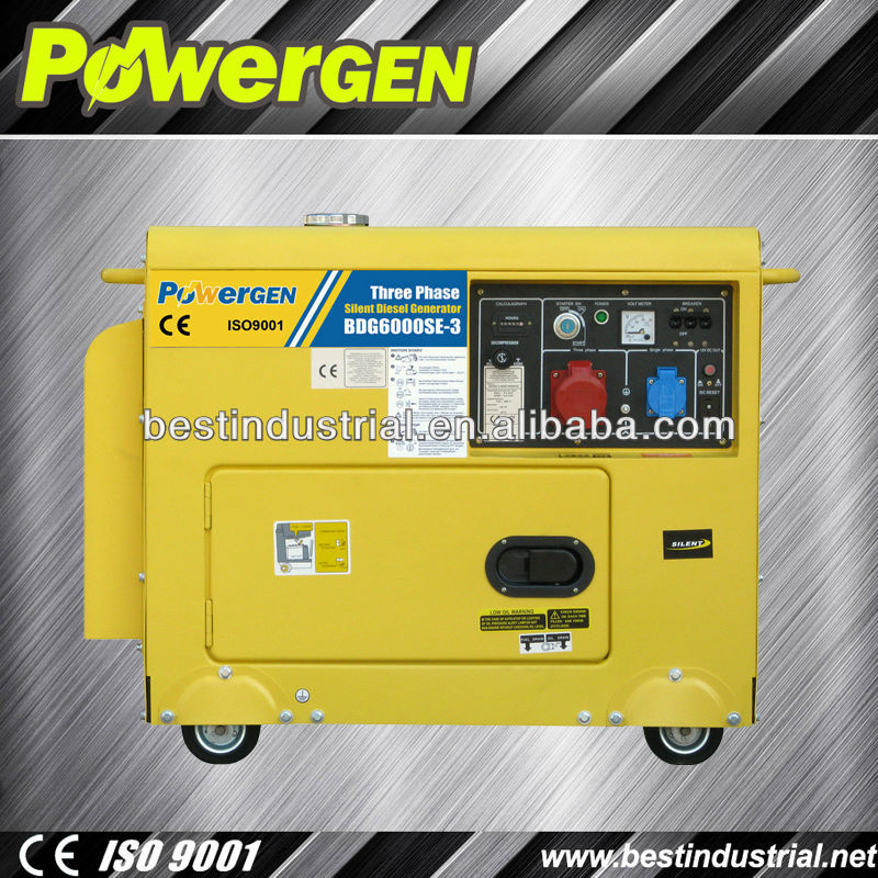 Hot Selling! With EPA Approved 3/Single phase 5 kw silent diesel generator
