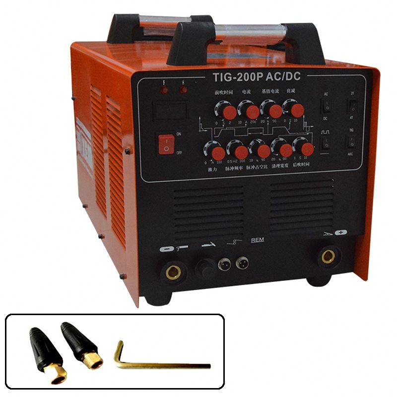 WSE-200P 220V/ Single Phase WSME-200 AC DC Inverter TIG/MMA Pulse Welding Machine