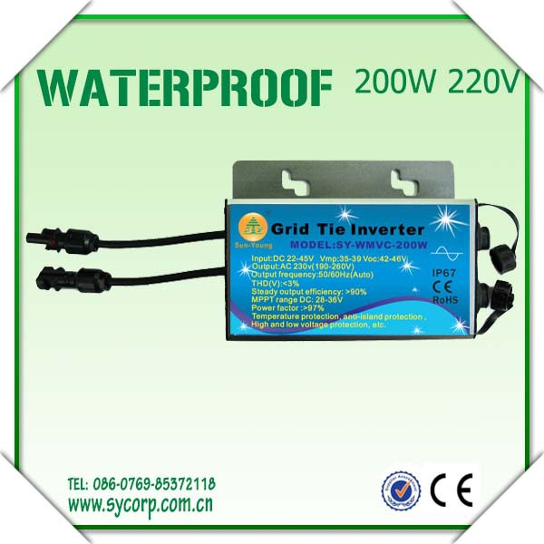 300w Waterproof Grid Tie Inverter Dc22-50v To Ac220v Pure Sine Wave Inverter Ce Wechselrichter