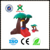 Best quality china plastic tree house plastic houses children garden plastic slide tree house QX-158I