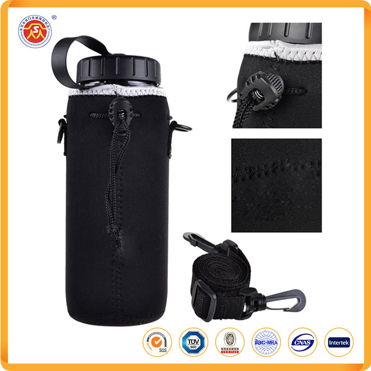 2017 new neoprene 2L water bottle sleeve holder wide-mouth carrier and key or mobile phone bag outdoor sports cycling