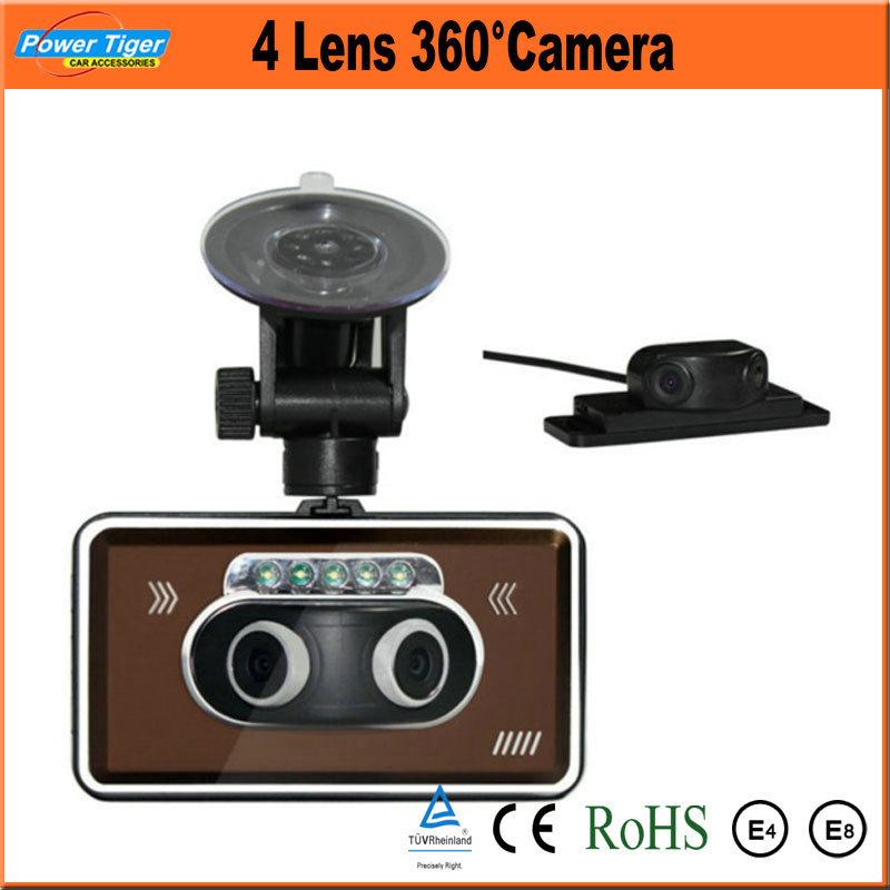 1080p 3 5 39 39 dual lens car dvr full hd camera recorder front 180 rear 180 degree night vision g. Black Bedroom Furniture Sets. Home Design Ideas