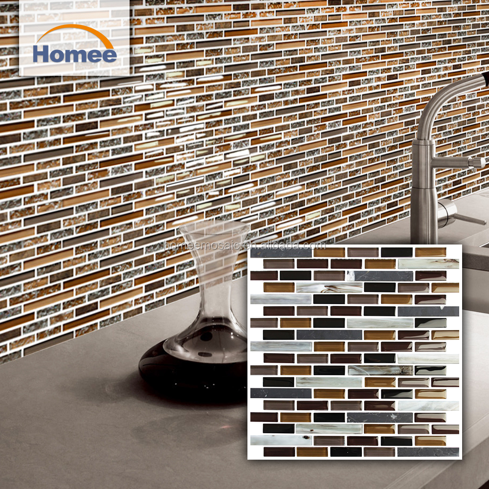 - Cheap Hot Sale Interior Decorative Backsplashes Strip Glass Stone