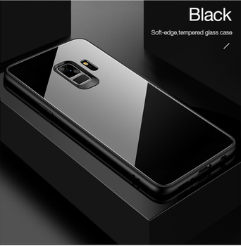 outlet store e479c d78d1 Case For Samsung Galaxy S9 Plus Soft Tpu Edge Color Glass Tempered Glass  Back Cover For Samsung Galaxy S9 - Buy Color Glass Case,Back Cover,Cover  For ...