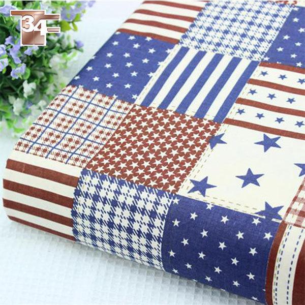 acheter 100 pur lin bleu drapeau am ricain imprim r tro tissu forcurtain. Black Bedroom Furniture Sets. Home Design Ideas