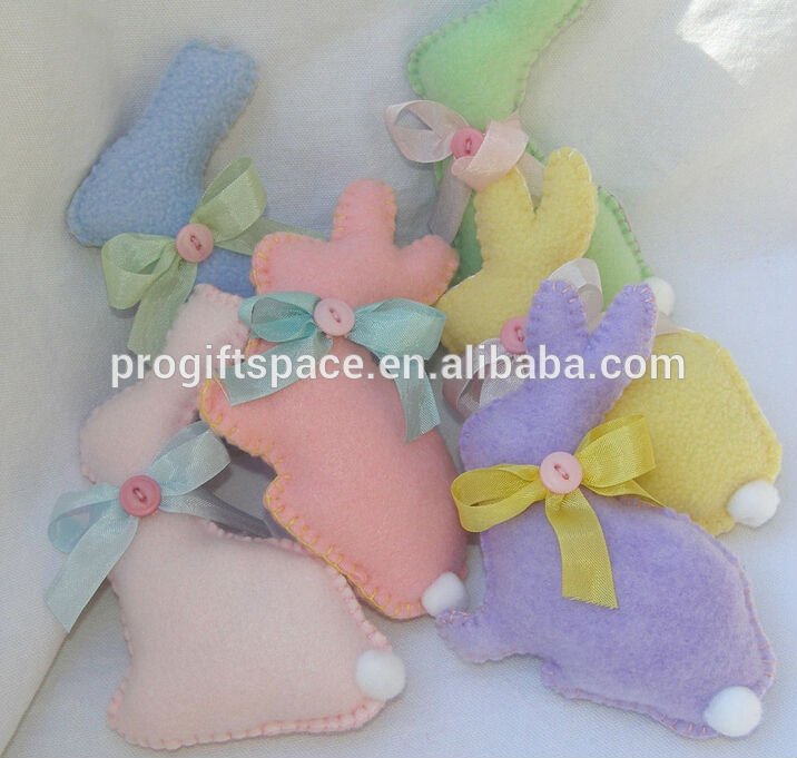 2018 new design hot sales China wholesale handmade fabric under 1 dollar craft home animal cute felt decoration Easter rabbit