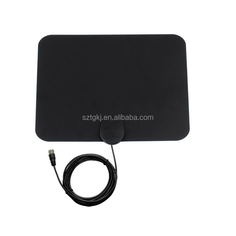 High quality DVB-T long range flat HDTV amplified satellite dish antenna TV