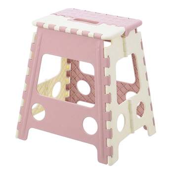 Folding Super Strong Plastic 9 Inch Step Stool for Kids and Adults with Handles