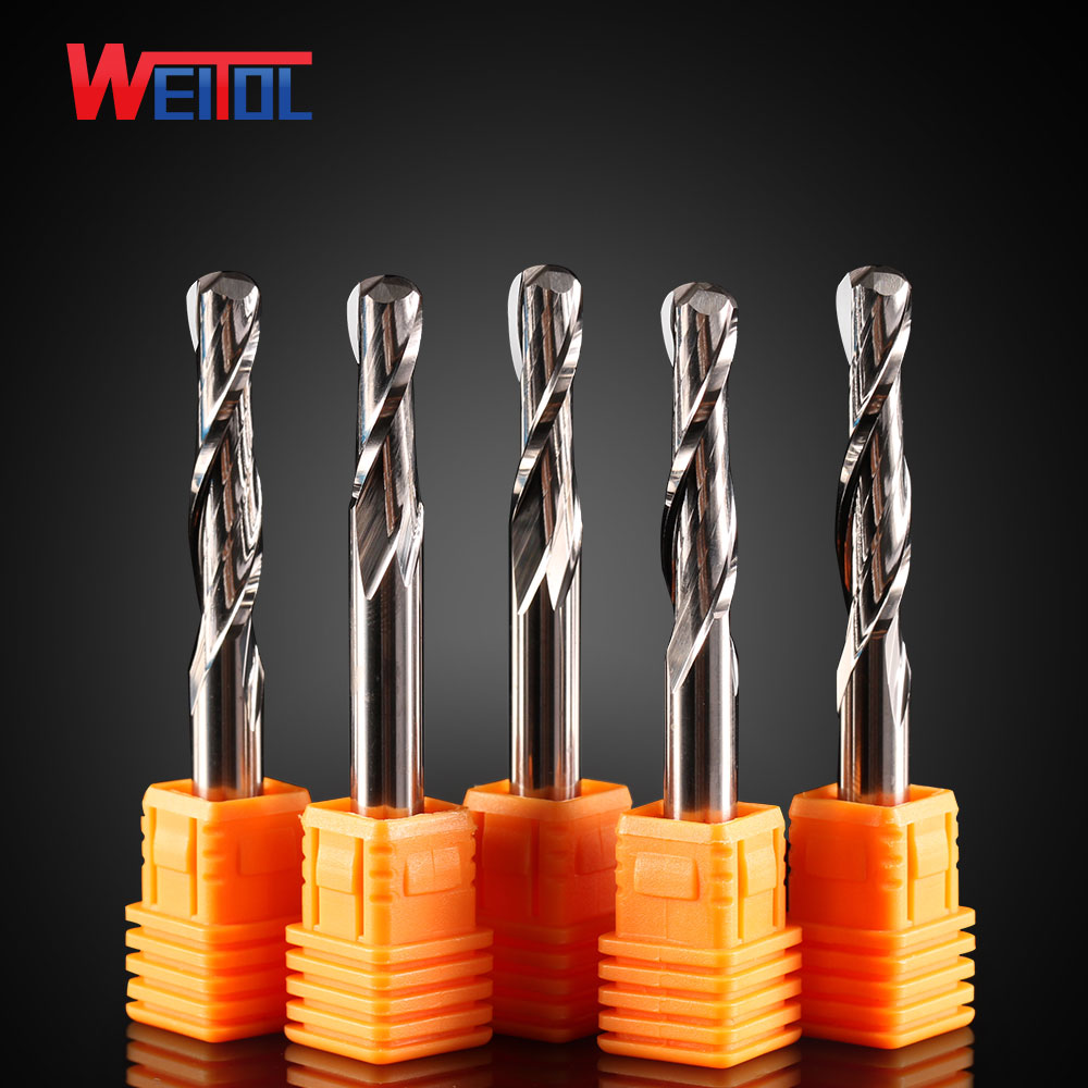 CNC end mill 6mm carbide two flutes ball nose router bits for cutting wood