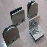 Stainless Steel glass shelf holding clips corner clamp
