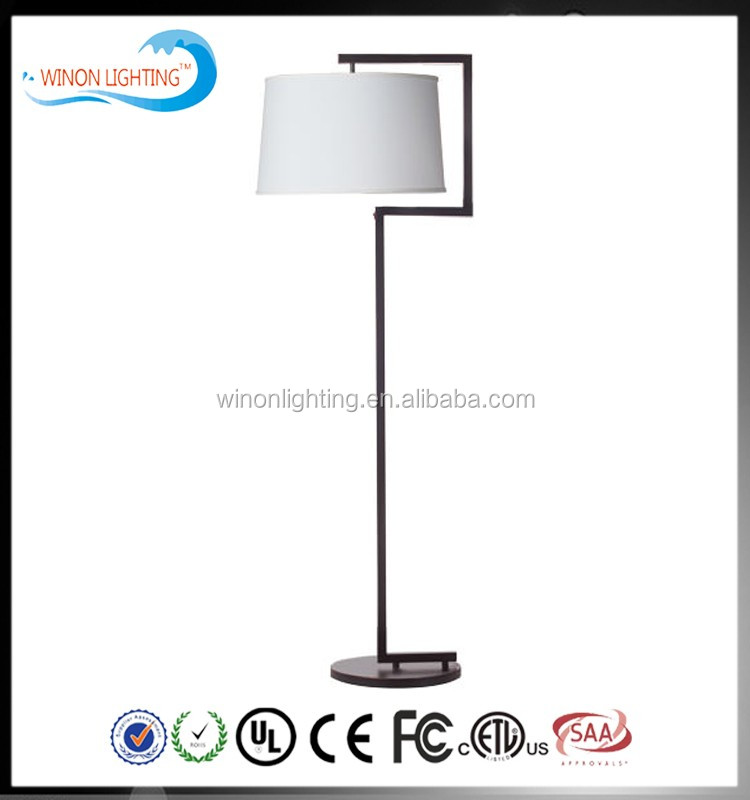 UL good quality polished chrome finish standing floor lamp for hotel guest room lighting