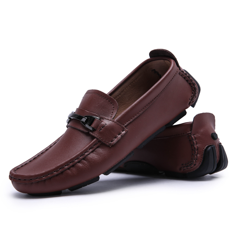 2015 Hot Discount Men Genuine Leather Fashion Casual Driving Comfort Shoes Mens Slip On Outdoor Flats Soft Loafers Free Shipping