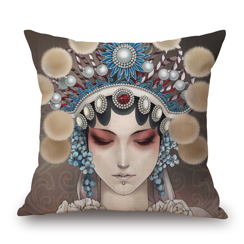 Free shipping throw pillow wedding decor linen fabric gift Hot sale 100% new 45cm elves cat simple sofa cotton cushion cover