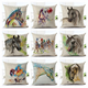 Colorful horses wholesale 3D digital printed cushion covers pillow cases