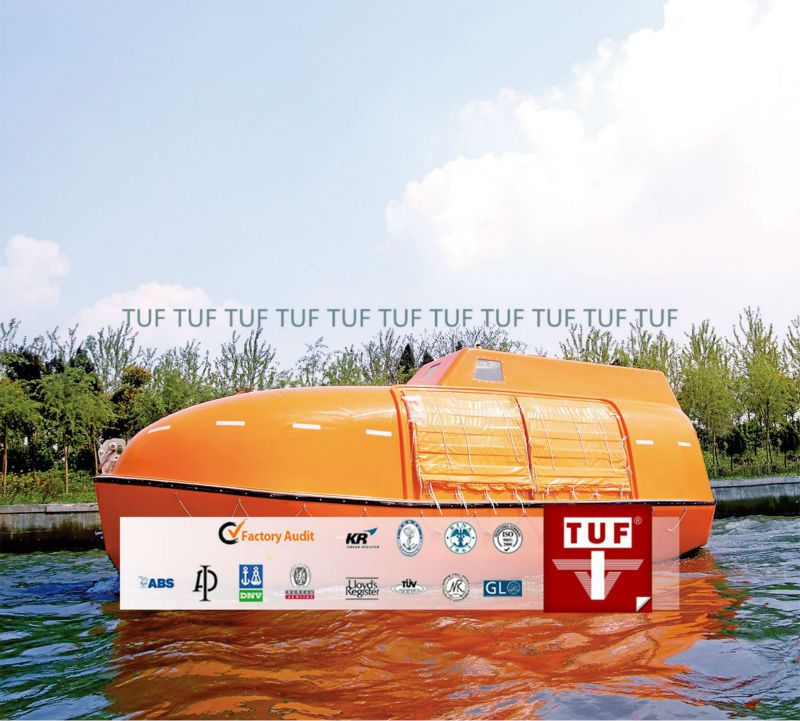 Top Grade Orange Totally Enclosed LifeBoat
