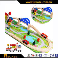 new design funny children wooden car track toy