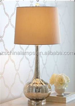 Columbia Garlic Shaped Decorative Home Table Lamp With Beige Round ...