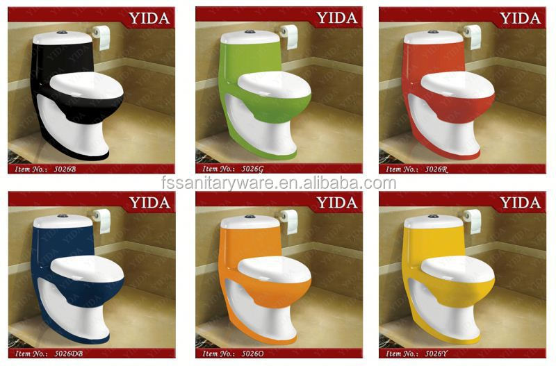 Nieuwe ontwerp kleur toilet wc kleur badkamer toiletten wc bril waterstraal toiletten product - Wc kleur ...
