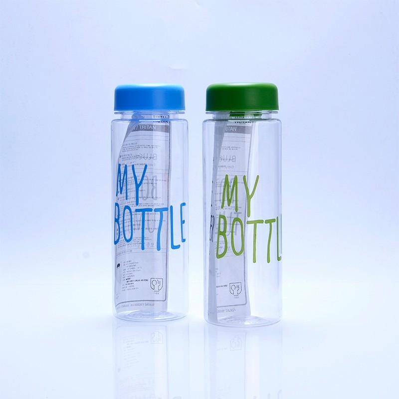 Korea My Bottle 500ml With Canvas Bag Customized Logo Plastic