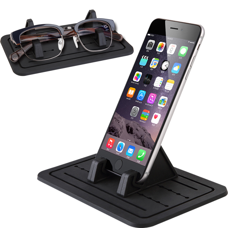 silicone phone support mobile phone holder used in car non-slip mat