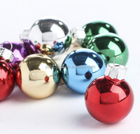 2016 Wholesale Selling plastic decorating Colorful Christmas Ball custom glass Christmas ornaments