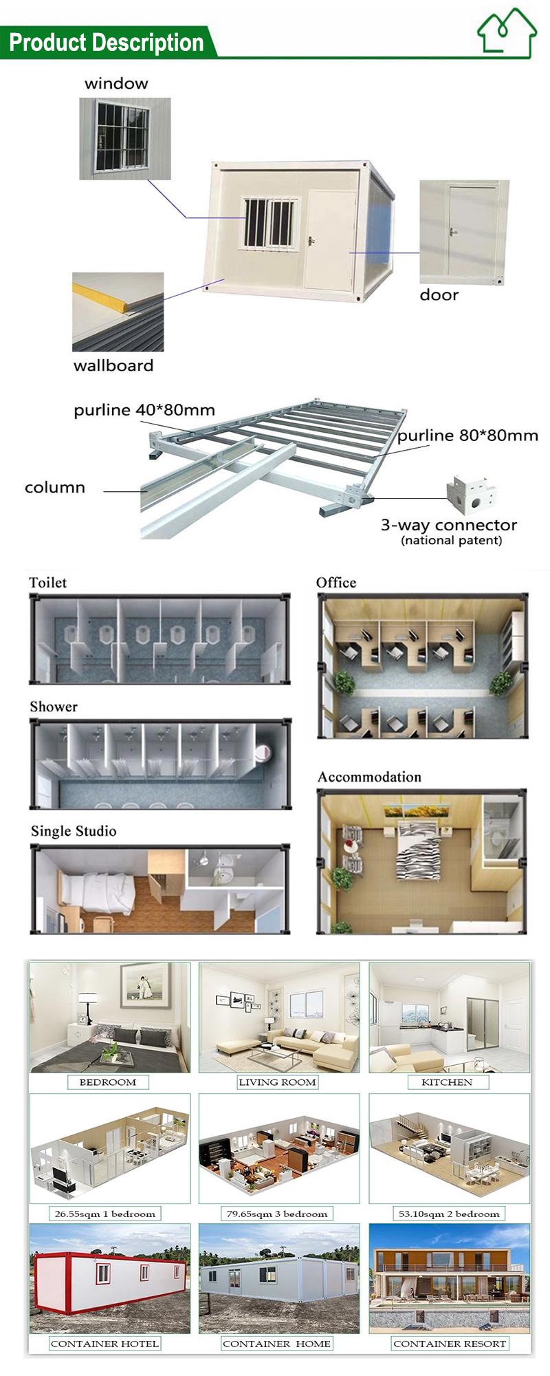 Modern ev tasarımları modüler konut cam konteyner ev