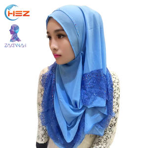 Zakiyyah V072 High-class Shawls Hijab Factory Dubai Abaya Hijab 2017 New Season Burqa and Pashmina