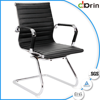 modern small executive leather office chair without wheels