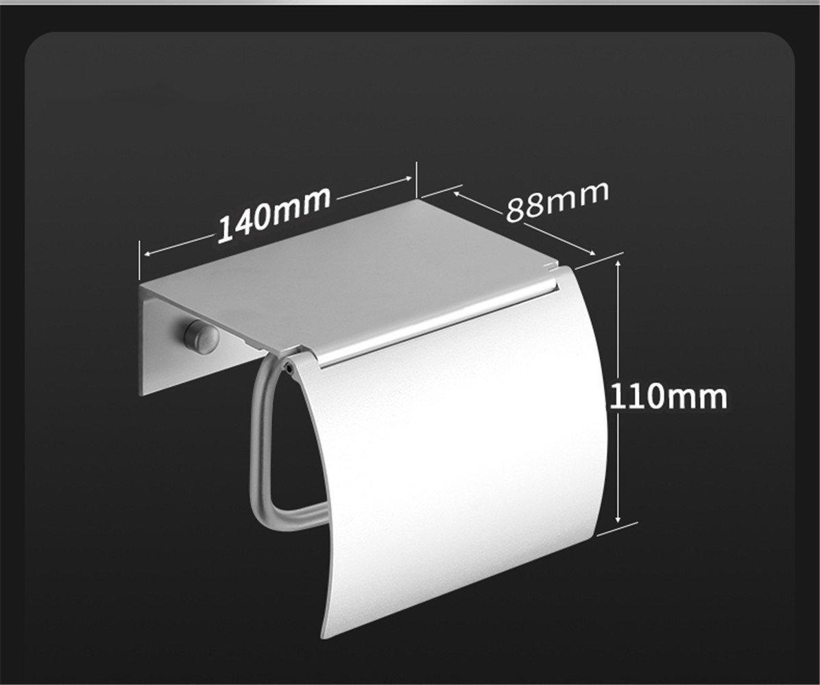 RFVBNM Toilet Paper Holder Space Aluminum Tissue Holder Paper Toilet Paper Box Toilet Roll Paper Rack Toilet Paper Holder Bathroom Bedroom Kitchen Paper Holder,Free Punch