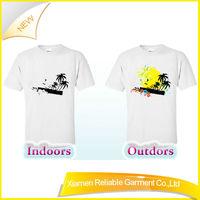High quality latest dress designs/ custom uv color changing t-shirt/ uv color changing shirts