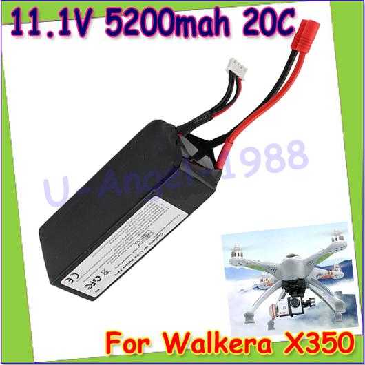 Wholesale 1pcs RC Lipo Battery 11.1V 5200Mah 20C 3S Lipo Battery For Walkera QRX350 PRO RC Drone Quadcopter Helicopter Dropship