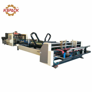 corrugated carton box folding gluing machine