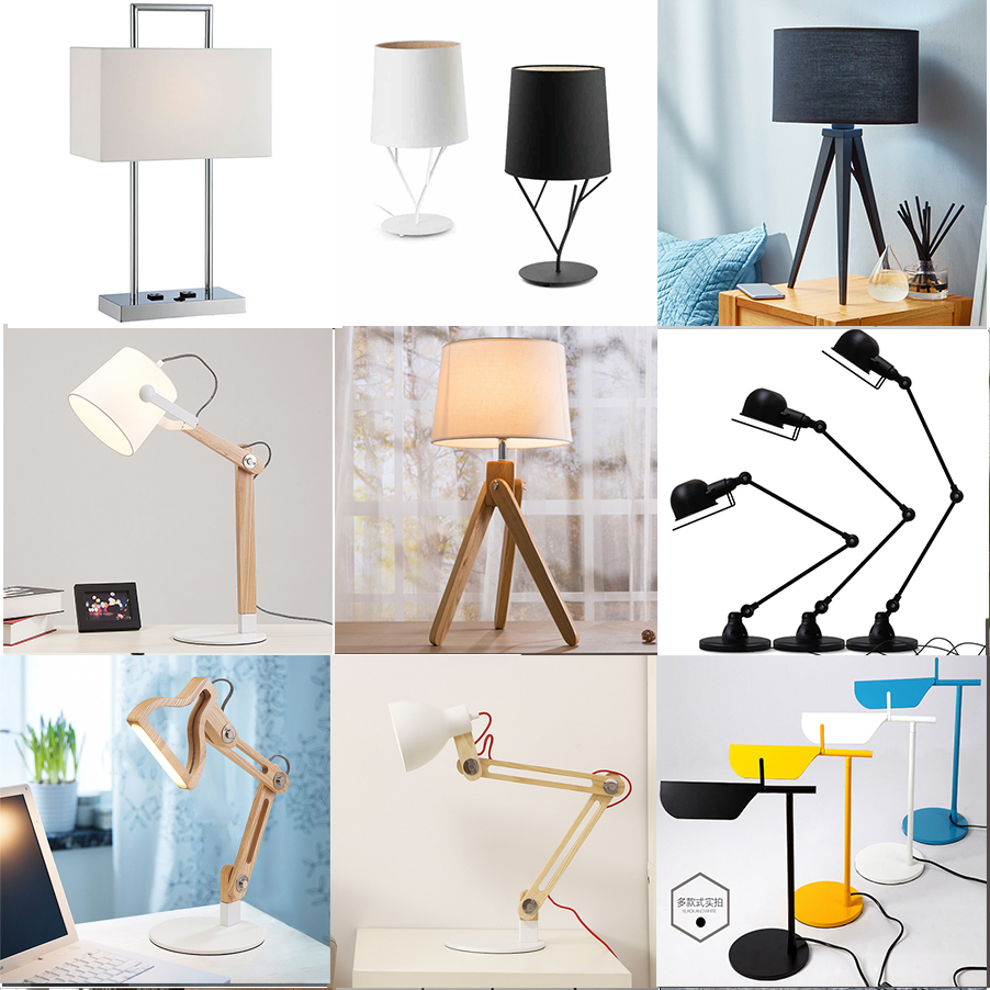 Fashionable Battery Powered Led Table Lamps For Supermarket Modern Cheap Table Lamp