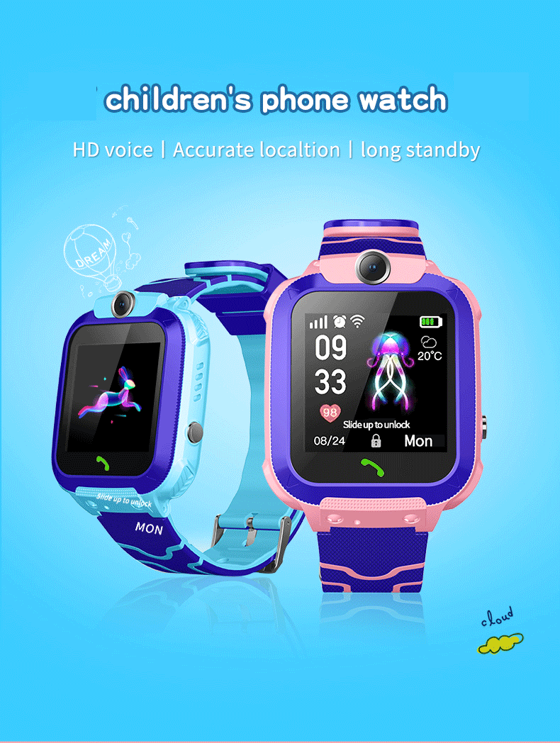 TKYUAN Kids Smartwatch GPS Tracker SOS Call Smart Watch for Children Phone