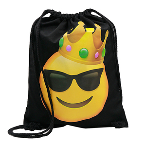 Alibaba China Wholesale Polyester Cheer Teen Cartoon Drawstring Backpack Bag