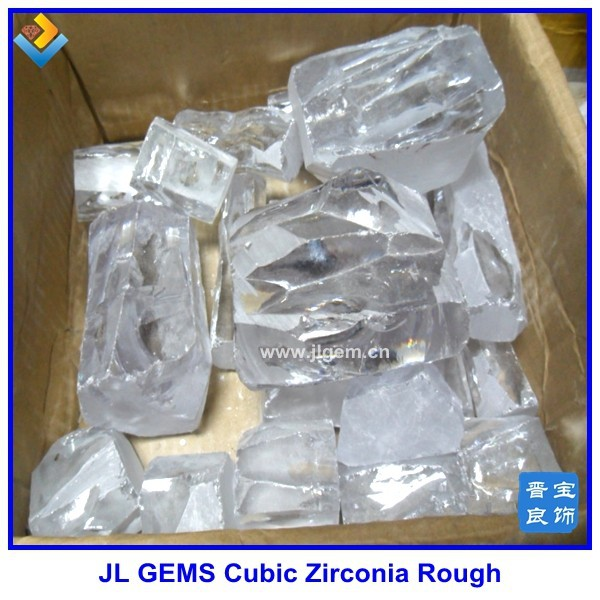 Synthetic White Rough CZ / Cubic Zirconium Of Make In China