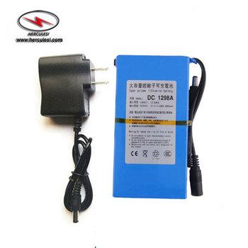 Mini 12v 9800mah Rechargeable Dc Battery Pack Lipo 12v 18650 Battery Pack  For Backup Power Supply - Buy 12v 18650 Battery Pack,Mini 12v Rechargeable