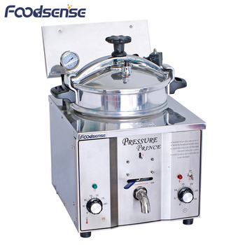 Industrial deep fryer pressure cooker, electric table top commercial chicken pressure fryer