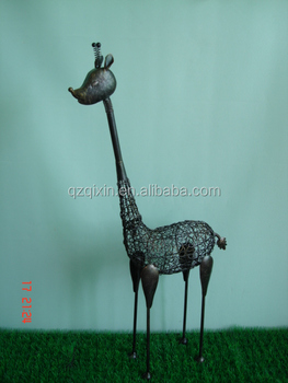 Metal Garden Handi Craft Metal Giraffe Metal Large Bird Ornament