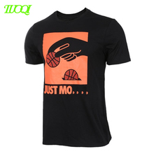 Unisex Silk Screen Printing Logo 180Gsm Combed Cotton Breathable Fit T Shirt