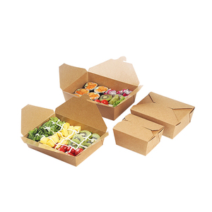 China manufacturer hot sale disposable salad food packaging kraft paper box