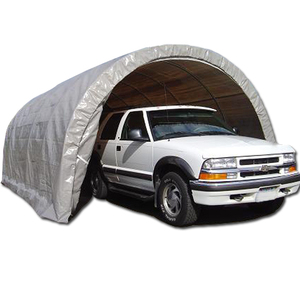domed car shelter with steel frame and PE/PVC cover for cars parking tent