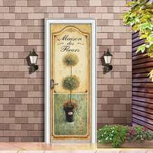 Наклейки на дверь закат скалы парусник лодка обои самоклеющиеся художественная роспись окна Декор наклейки домашний декор(Китай)